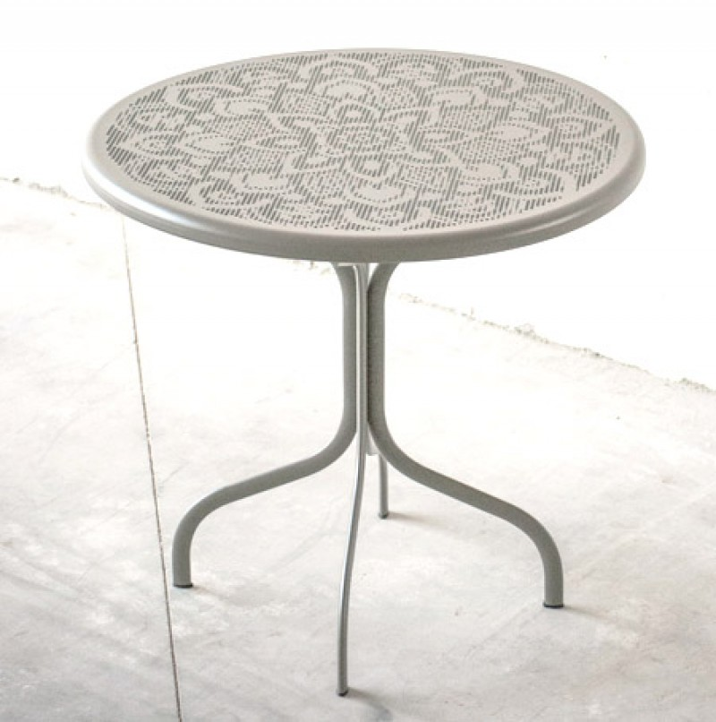 G.Outdoor tavolo tondo traforato