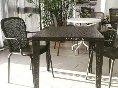 G.Outdoor tavolo quadrato traforato